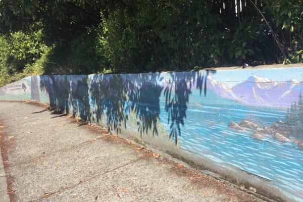 Mural cleaning work party Monday, August 10 at 9am